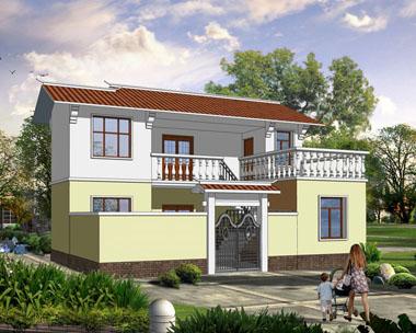 1830简约农村二层小别墅设计图纸10m×9m