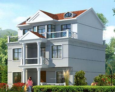 AT130三层120平米农村别墅房图纸 11m 10m