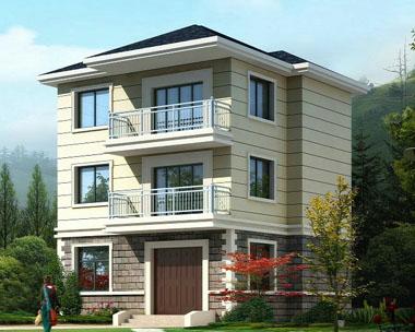 551三层农村小别墅设计图施工图纸9m×8m