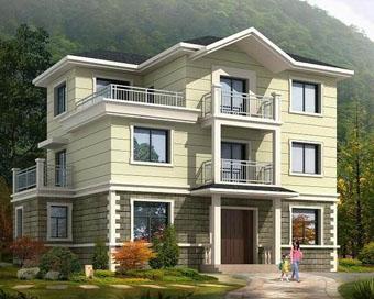 661三层新农村住宅别墅设计图纸14m×9m