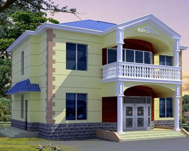 668号二层新农村小别墅设计图纸14m×14m