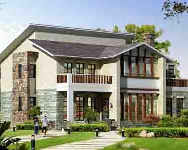 671二层新农村小别墅住宅设计图15m×12m