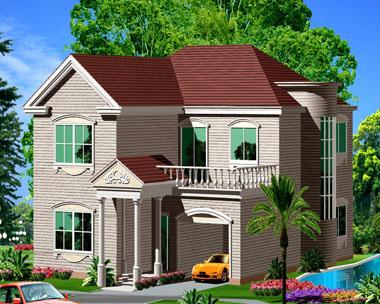 696二层新农村住宅别墅设计图纸15m×15m