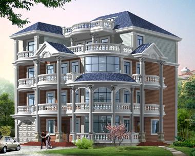 806四层豪华欧式别墅设计图纸