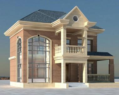 872二层简欧式风格别墅住宅设计图纸12m×11m