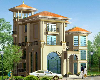 880号三层半豪华别墅设计方案图纸14m×16m