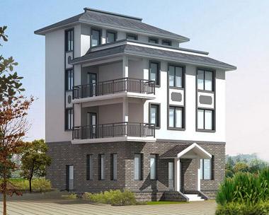 895新农村实用优雅四层别墅建筑构水电设计图纸 9m×9m