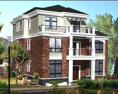 at1808三层私人豪华别墅设计施工图纸12m×13