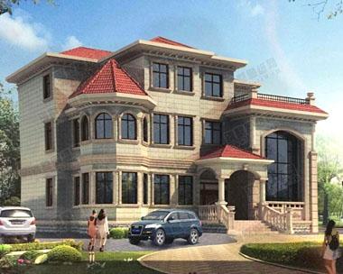 928欧式三层复式豪华别墅全套设计图纸